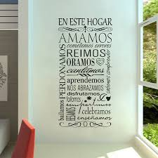 compare prices on wallpaper sticker quotes online shopping buy en este hogar spanish vinyl wall stickers home decoration lettering sticker quote decals living room wallpaper