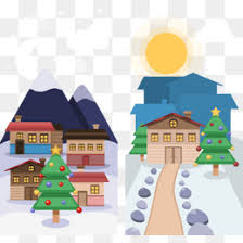 winter town png vectors psd and icons for free download pngtree