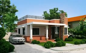 one bungalow house plans rommell one storey modern with roof deck eplans modern