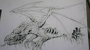 drawing a zombie dragon concept youtube