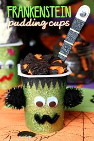frightfully fun frankenstein pudding cups young at heart mommy