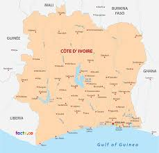 africa map ivory coast côte d ivoire ivory coast map with cities blank outline map of