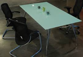 Glass Boardroom Tables 6 U0027 8 U0027 Glass Conference Table Modern Office Room Table