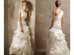vera wang vera wang one shoulder style v size 2 wedding dress