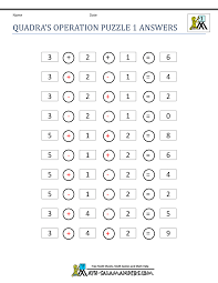 math puzzle 1st grade