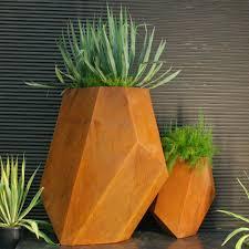 corten steel planters homesfeed