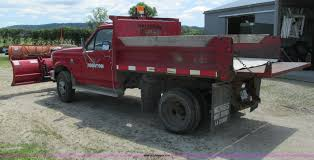 Ford F350 Dump Truck With Plow - 1992 ford f350 custom dump bed truck item i3883 sold au