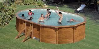 piscine hors sol acier gre aspect bois 5 x 3 x h 1 20 m gre