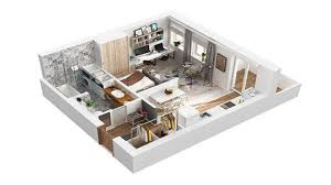 home design 40 square meter apartment in rome 3d for 300 sq ft