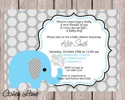 blue elephant baby shower invitation blue elephant invite