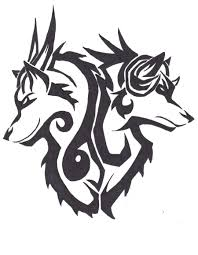 rage and despair tribal tattoo design by wolfhappy on deviantart