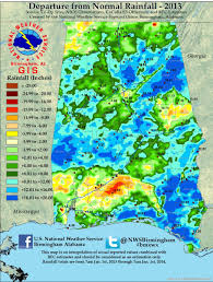 Rainfall Map United States by Annual Rainfall Totals For Alabama 2013
