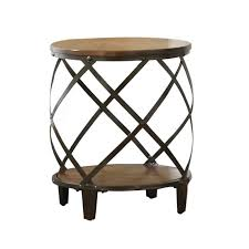 steve silver crowley end table steve silver company winston round end table in distressed tobacco