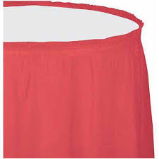 Pink Table Skirt by Plastic Table Skirt Coral Walmart Com