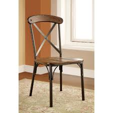 furniture of america stilson industrial dining side chairs set