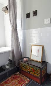 option 1 for how to finish the subway tile at half wall u0026 side of