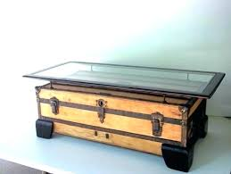 Vintage Trunk Coffee Table Aluminum Trunk Coffee Table Luggage Coffee Table Luggage Coffee