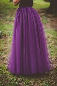 floor length tulle skirt bridesmaid skirt eggplant long tulle