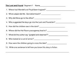 lost and found worksheets and activities houghton mifflin grade 3