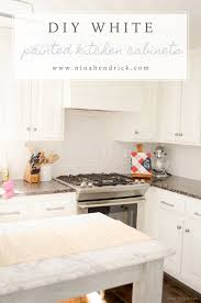 Redo Kitchen Cabinets Diy White Painted Kitchen Cabinets Reveal
