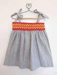 buy grey yellow orange red cotton dress with crochet yoke khadi