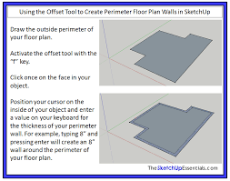 How To Make A Floor Plan In Google Sketchup by Using The Push Pull And Offset Tools In Sketchup To Create Shapes