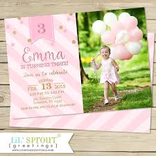 2nd Birthday Invitation Card Pink And Gold Glitter Girls Birthday Invitation Printable