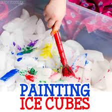 painting ice cubes activity indoor activities sensory