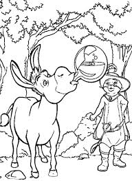 shrek riding donkey puss boots coloring pages batch