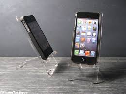 Cell Phone Holder For Desk Universal Transparent Blank Acrylic Cell Phone Stand Docking