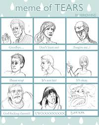 Tears Meme - meme of tears by dragonflamebg on deviantart