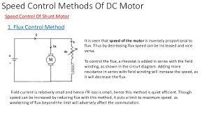 methods to control speed of dc motors