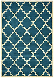 teal blue synthetic area rugs amazon com