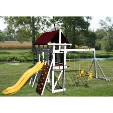 Luxcraft Poly Octagon Picnic Table Swingsets Luxcraft Poly by Amish Made Jungle Gym Explorer Swing Set Jungle Gym Playground