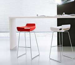 Modern White Bar Stool Contemporary Bar Stool Metal Kreaty Made Ciacci Amusing For