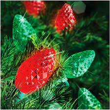 walmart red led christmas lights holiday time 25 count led c7 color changing christmas light string