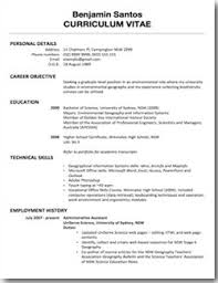 resume examples for high graduate students personal