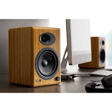 Bookshelf Audio Speakers Audioengine A5 Powered Bookshelf Speaker System Bamboo A5 N