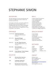 short resume resume templates