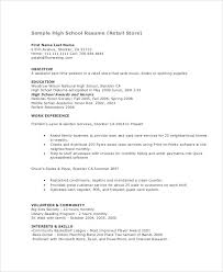 Teenage Resume For First Job by Example Of A Resume For A Teenager 15 Teenage Resume Templates