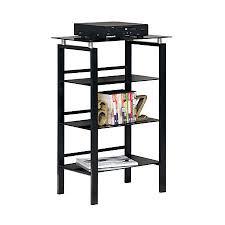realspace lake point 3 shelf bookcase black by office depot