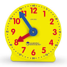 time learning clock big time mini clock learning resources