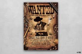 template flyer country free wanted western party flyer template thats design store