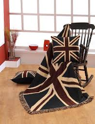 homescapes 100 cotton hand woven union jack flag throw 50 x 60
