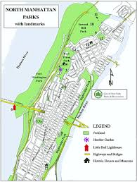 manhattan on map northern manhattan parks map nyc parks