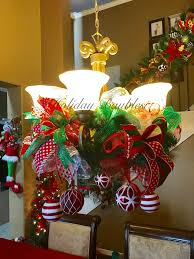 chandelier garland by holiday baubles trendy tree custom