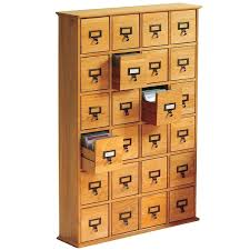 Library Catalog Cabinet Library Catalog Media Storage Cabinet 24 Drawer Stores 456 Cds