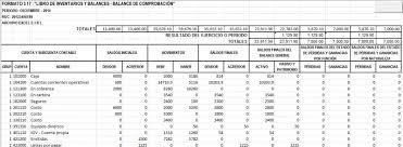 balance de comprobacion sunat excel contable i curso virtual archivo excel