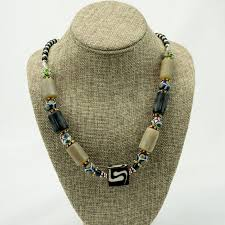 african bead necklace images African mixed bead necklace jpg