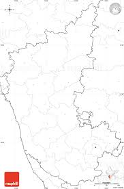 Blank India Map With State Boundaries by Blank Simple Map Of Karnataka No Labels